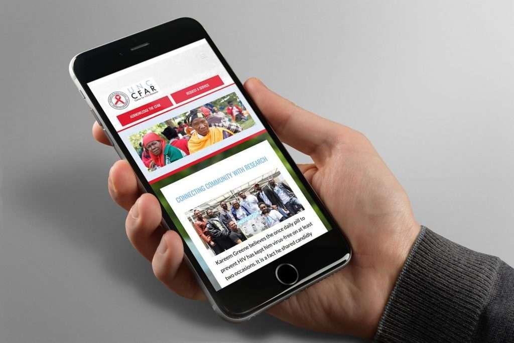 CFAR- Website Mobile Design View