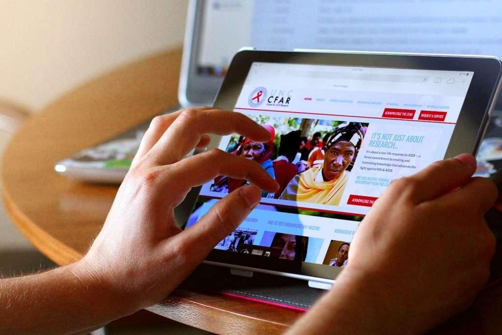 CFAR - Website Design for Tablet View