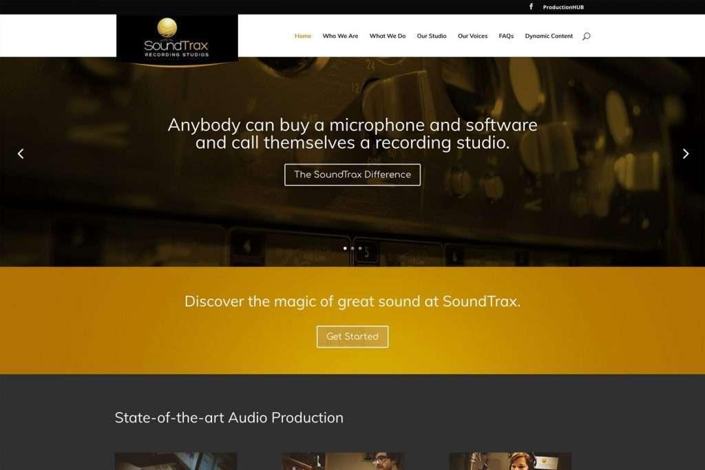 SoundTrax Recording Studio Desktop Design View