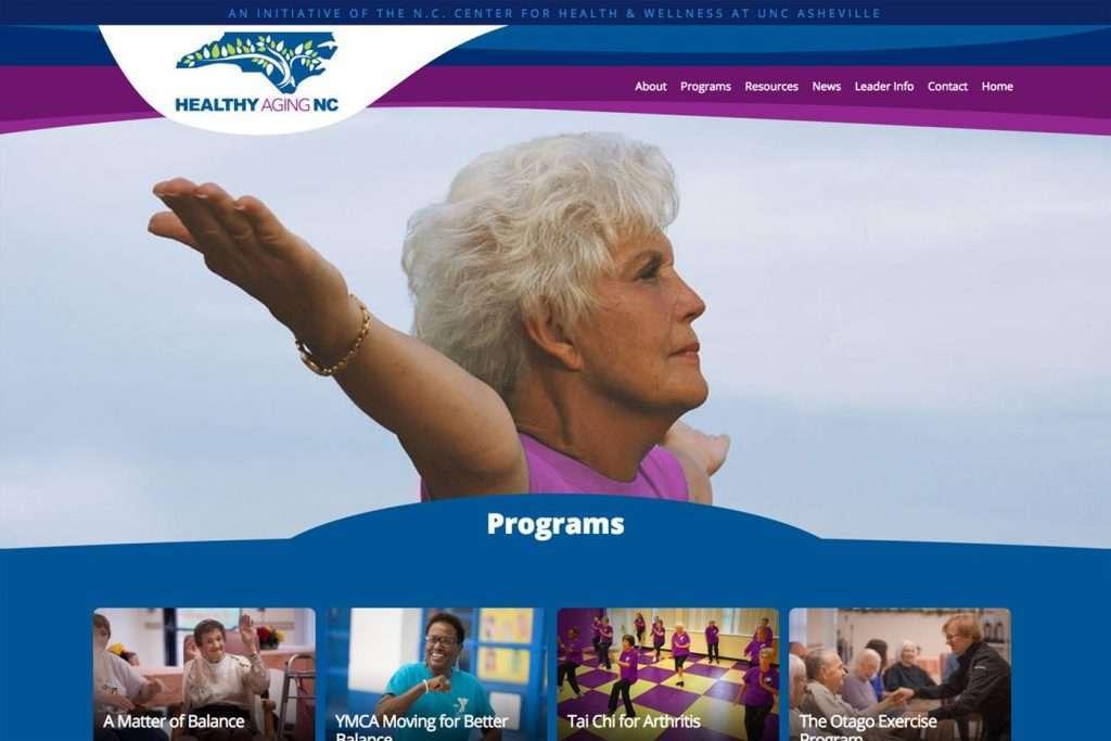 Healthy Aging NC - Desktop Responsive Design View