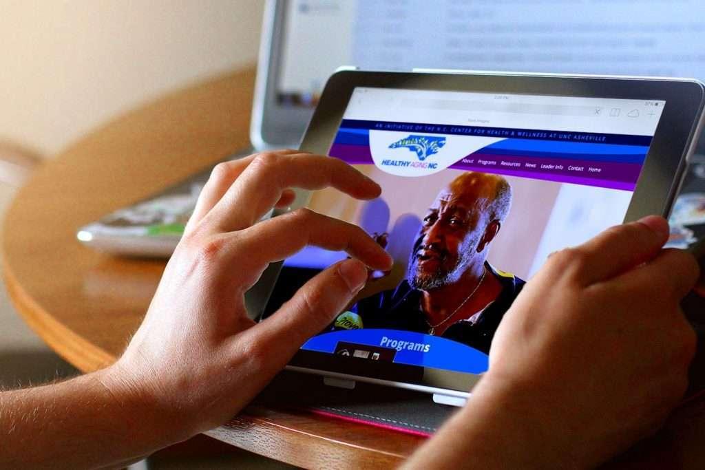Healthy Aging NC, Tablet Display