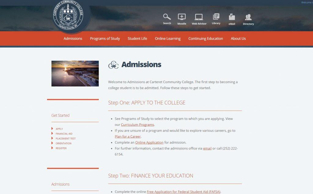 admissions