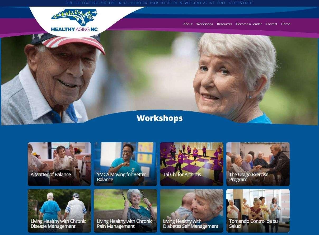 Healthy Aging NC Homepage header