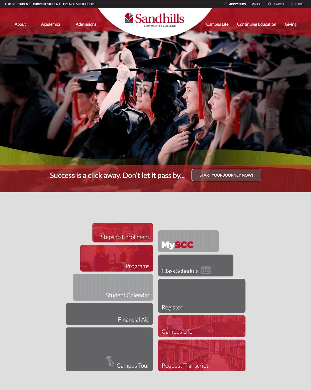 Sandhills Community College homepage